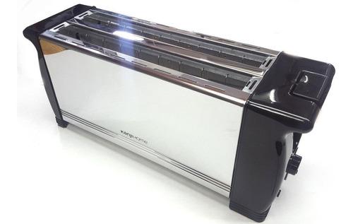 tostadora de pan kanji 1400w metal 4 panes 6 niveles larga