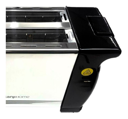 tostadora electrica 900 watts plateada 6 niveles acero inoxi