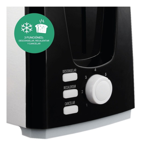 tostadora electrica peabody pe-t1305 2 panes 7 niveles envio
