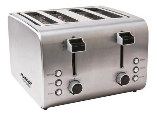 tostadora electrica peabody pe t8520 acero inox 4 fetas ctas