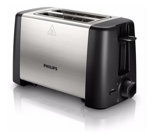 tostadora electrica philips hd4825 diseño metálico compacto