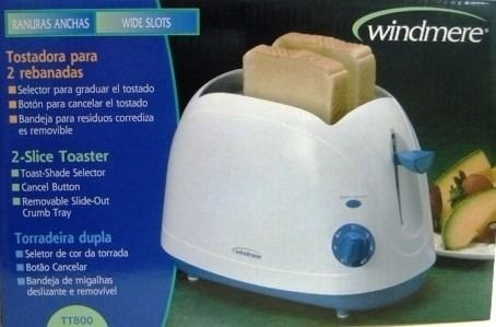 tostadora sandwichera de 2 panes windmere