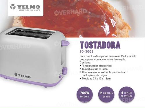 tostadora yelmo to3006 6 niveles de tostado todo tipo de pan