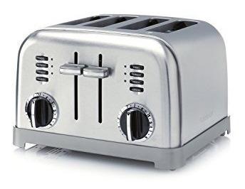 tostadoras,cuisinart electronic 4 rebanadas de acero tos..