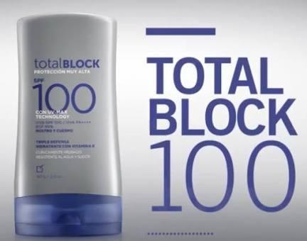 total block bloqueador para cara y cuerpo triple defensa