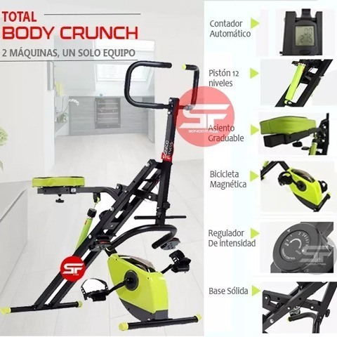 total body crunch evo xt2019 + piston12n + bici 8n + faja