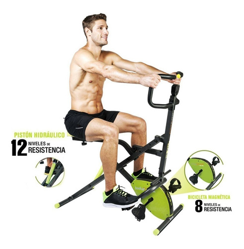 total evolution tv abdominal crunch bicicleta estatica + obs