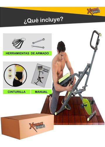 total evolution x2019 crunch+ bicicleta 2en1+ faja+ abdomen