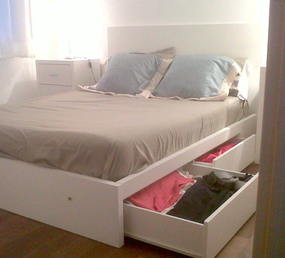 Total zeta muebles cama 2 plazas con 4 cajones oferta for Sofa cama 2 plazas oferta
