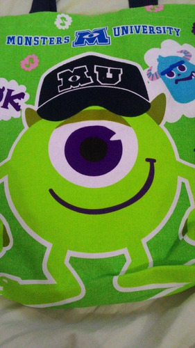 tote bag universidade monstros (monsters university) disney