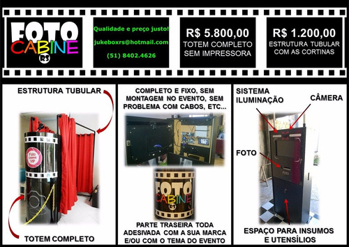 totem completo - cabine de fotos photo booth