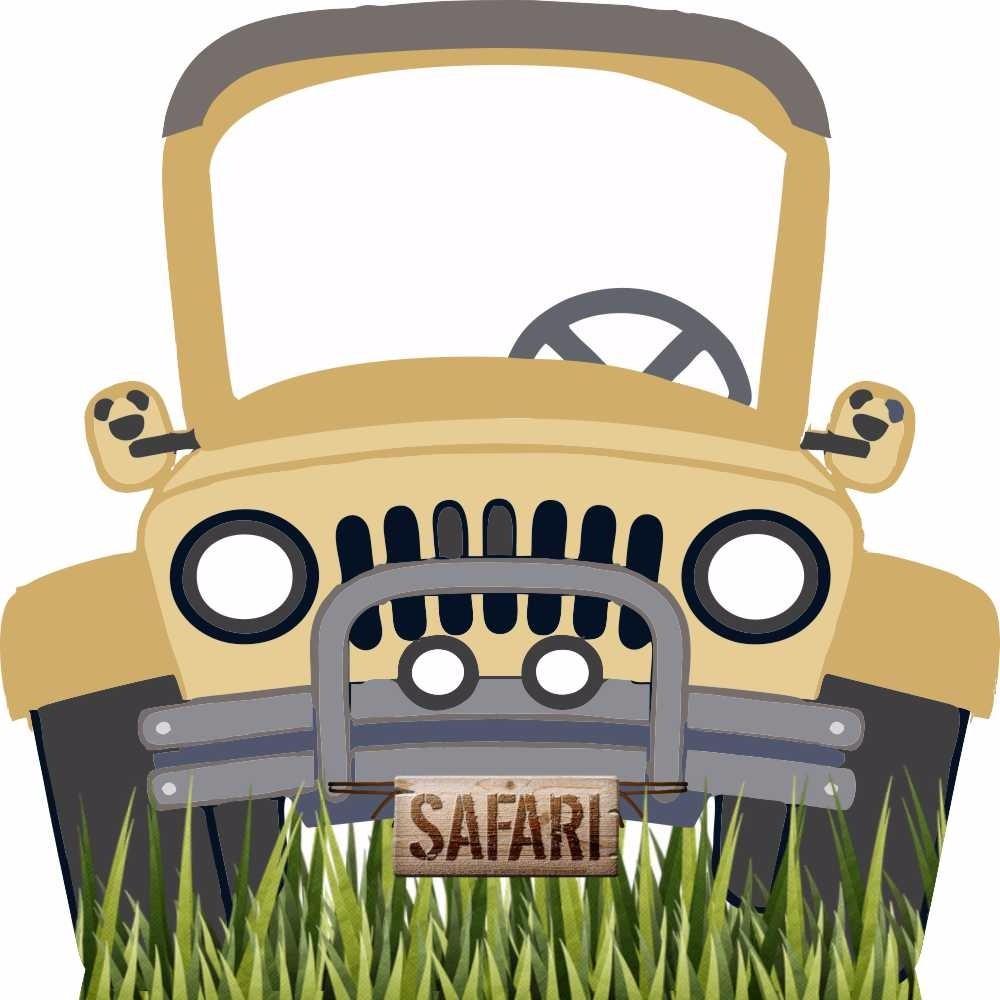 Totem de ch o jipe safari mdf festa infantil decora o r - Safari car wallpaper ...