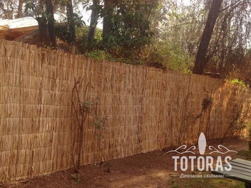 totora rustica 2x5 mts cierre perimeral y techos