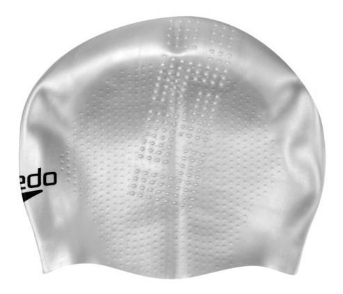 touca acquafast cap competição - speedo - cinza prata