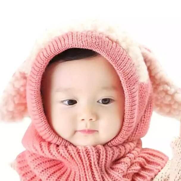 Touca Bebê Infantil Menina Estilo Cachecol Gola Quentinha - R  59 5dcccf45bd4
