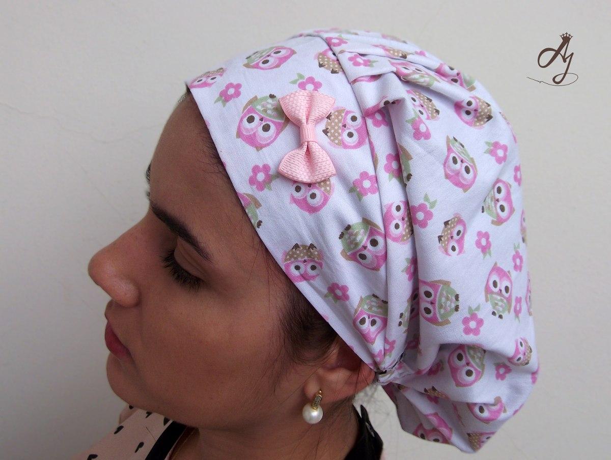 touca cirúrgica feminina estampada corujinhas. Carregando zoom. 6e547559a0f