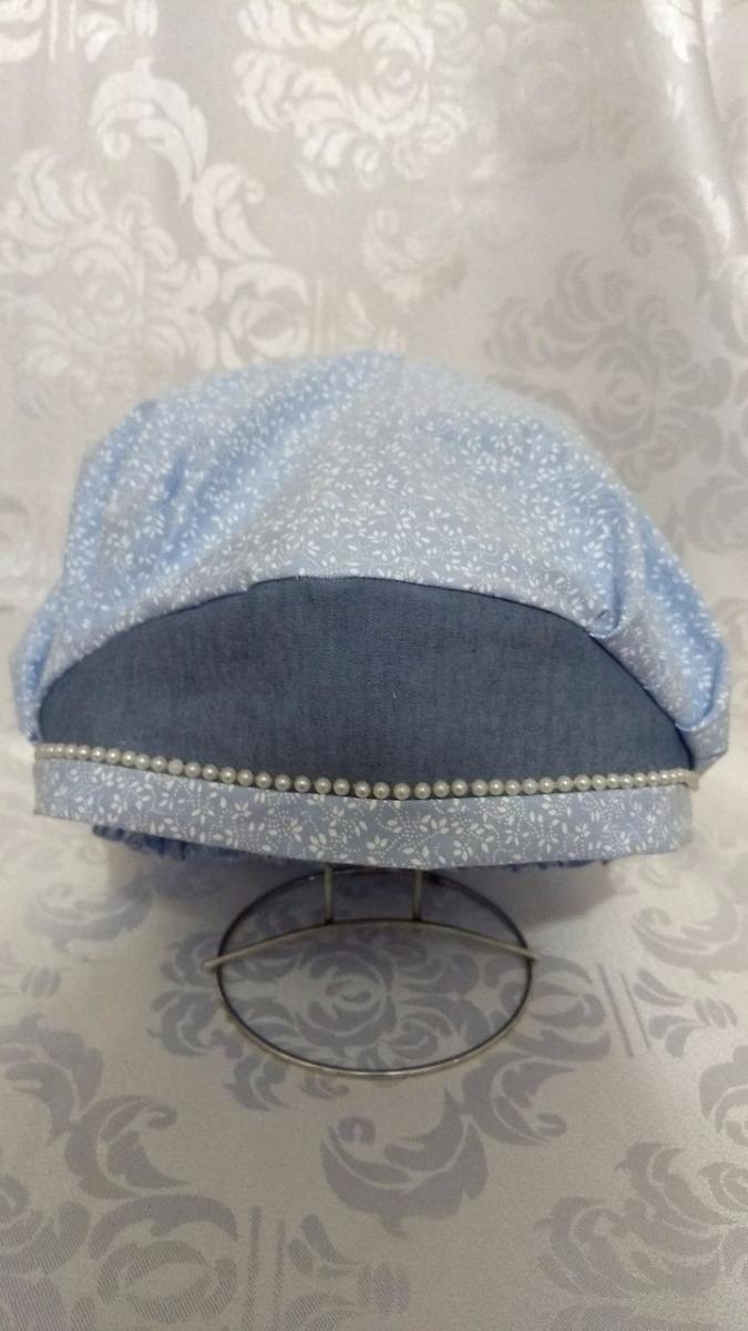 touca cirúrgica ou de cozinha florzinha jeans. Carregando zoom. 3c1243ecdb7