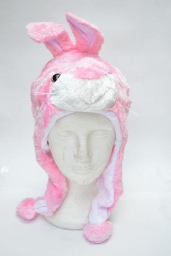touca criança coelinha rosa linda tampa frio inverno
