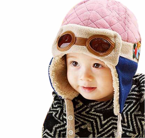 Touca Criança Infantil Aviador Azul Marrom Rosa Vermelha - R  69 3cb778d7f4c