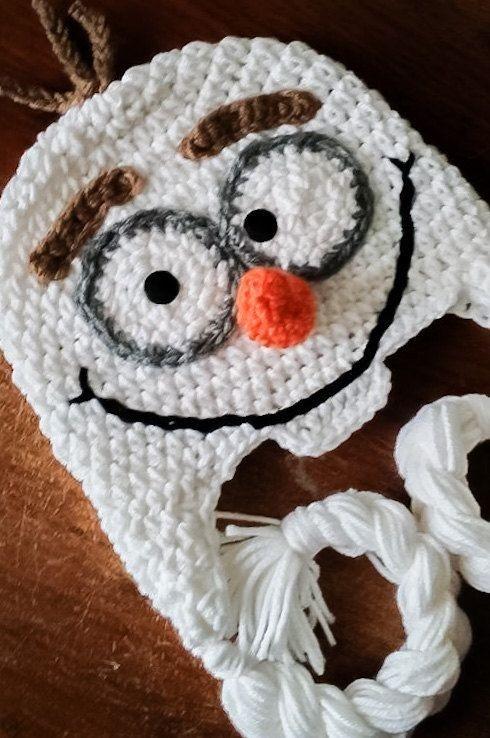 Touca Crochê Em Infantil Olaf - Frozen - Todos Os Tamanhos - R  89 ... 76c60bf40ac