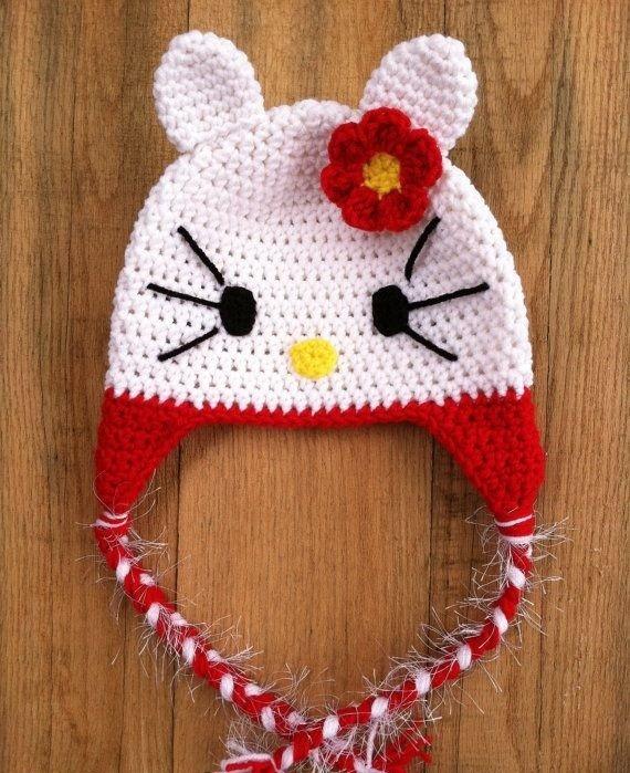 d0469361b0ff5 Touca Crochê Infantil Hello Kitty Todos Os Tamanhos E Cores - R  79 ...