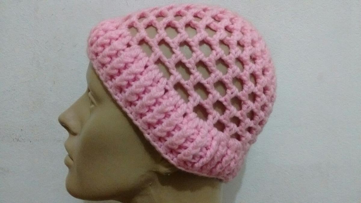 touca crochê rosa feminina ® - gorro. Carregando zoom. 3da5f130c96