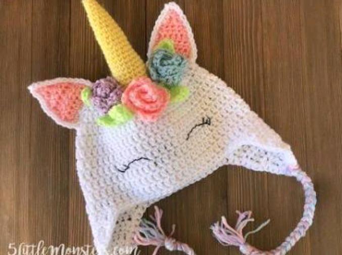 Touca Croche Unicornio - R  50 7b6ab0157f5