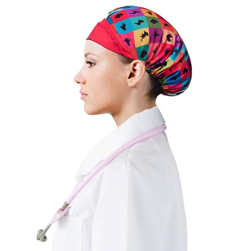 touca de cabeça mulher estampa animais medicina veterinária. Carregando  zoom. ef416cacfd9