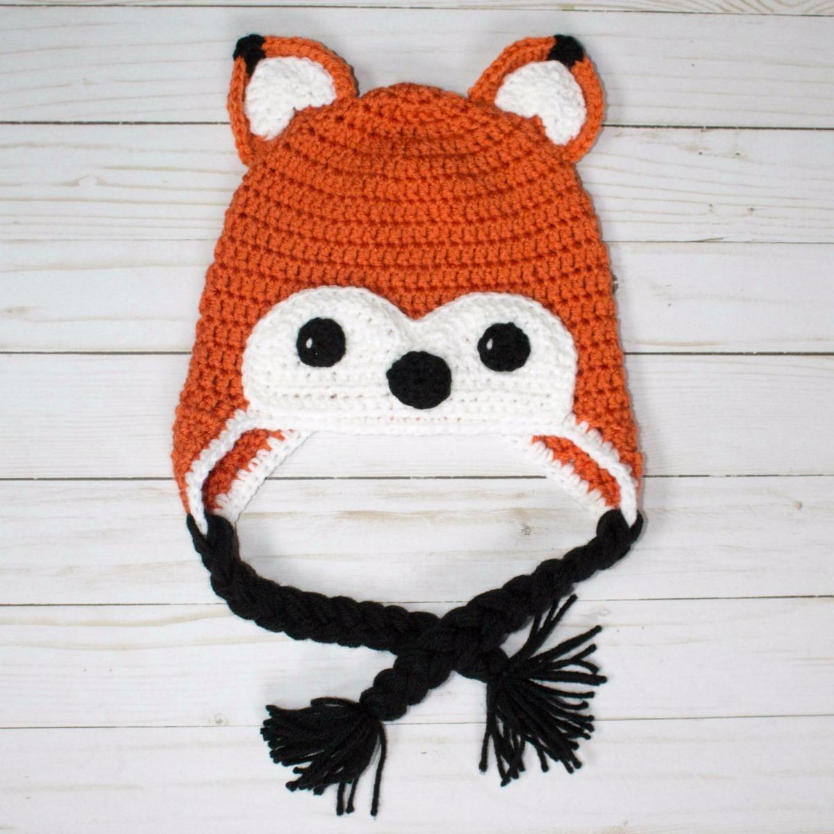 touca de crochê raposa   gorro raposa para bebês. Carregando zoom. 2ac740ff1a1