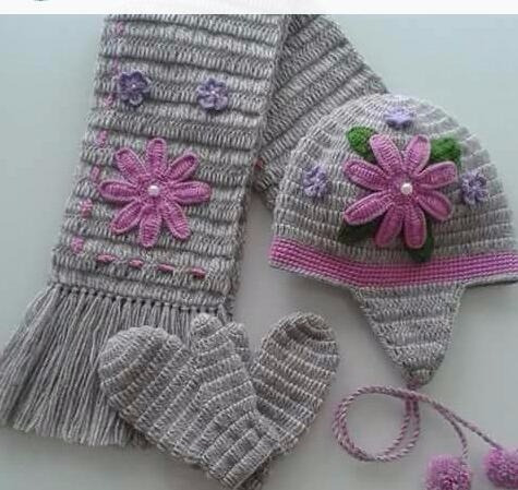 Touca De Croche Minnie Com Cachecol - R  75 a68d4374656