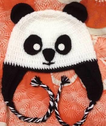 Touca De Croche Panda Menino - R  30 5a3cb23a459