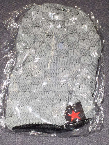 touca de lã gorro cinza