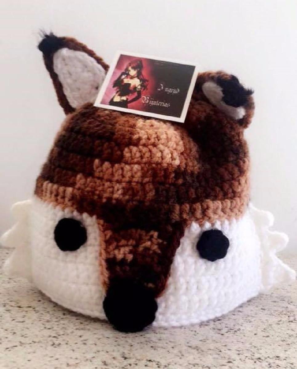 touca de raposa em crochê. Carregando zoom. 0739709c7b7