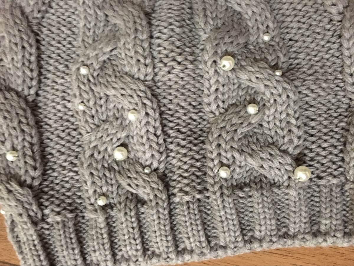 touca de tricô com pérolas modelo beanie. Carregando zoom. d96efd21299