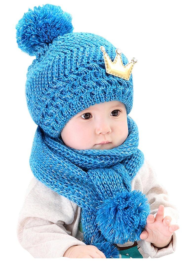 touca e cachecol conjunto infantil bebe criança lã toucas. Carregando zoom. 9b5012649a6