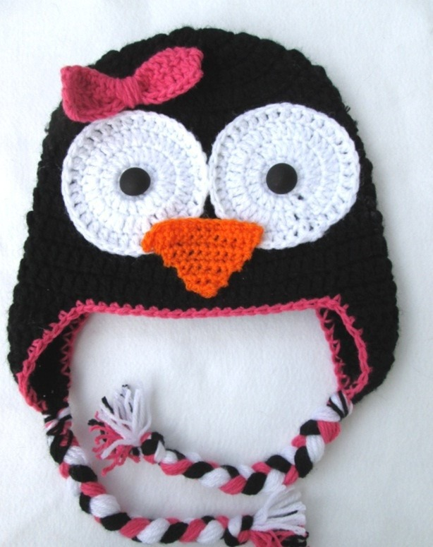 Touca Em Croche Infantil Bichinhos Pinguim Todos Os Tamanhos - R  79 ... ef9573d6634