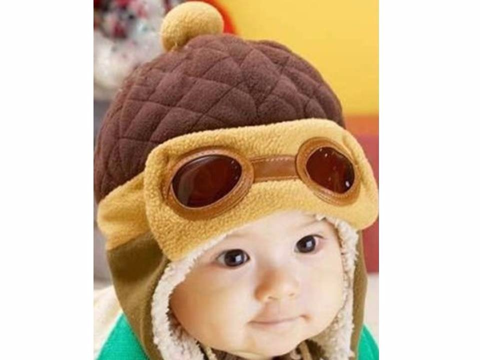c13e885d2ec32 Touca Gorro Aviador Baby Infantil Criança Bebê Algodão Linda - R  47 ...