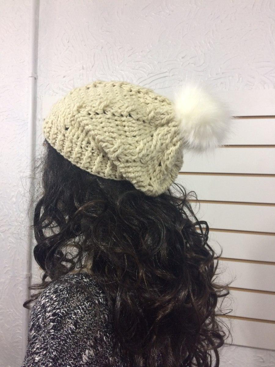 touca gorro beanie de lã boina feminino pompom pele. Carregando zoom. 0b16efff4dc