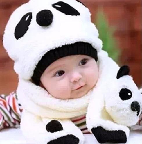 Touca Gorro Cachecol Infantil Inverno Para Bebês E Crianças - R  69 ... 76999842d19