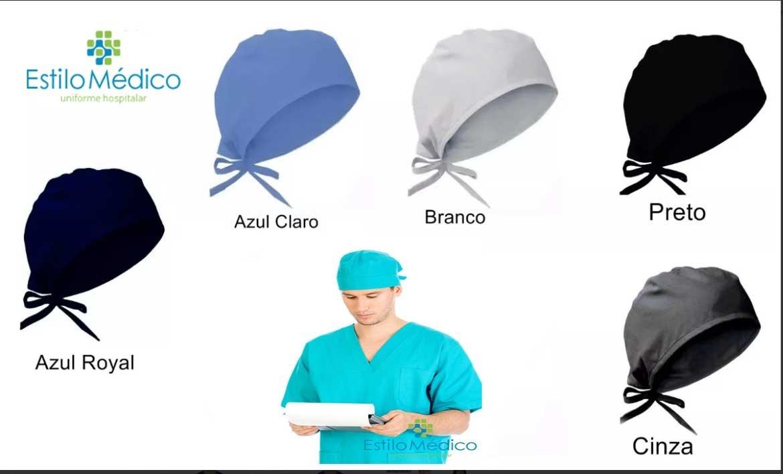 185d3d8177 Touca Gorro Cirúrgico Em Tecido - Azul Marinho - R$ 23,99 em Mercado ...