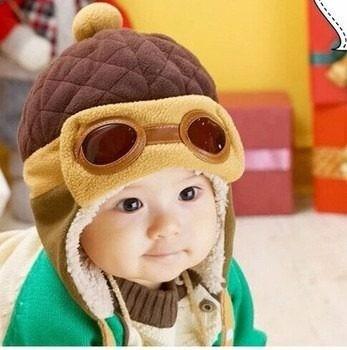 Touca Gorro Criança Bebe Infantil Aviador Azul Incrivel Luxo - R  24 ... ed41769abc0