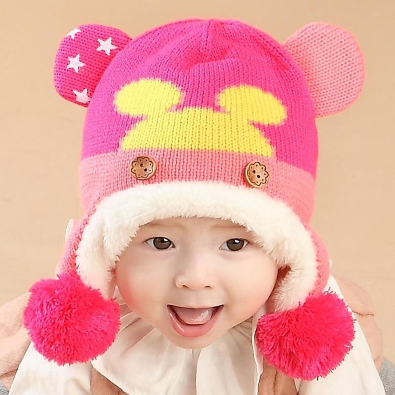 444079efe5949 Touca Gorro Criança Bebe Infantil Mickey E Minnie Importado - R  29 ...
