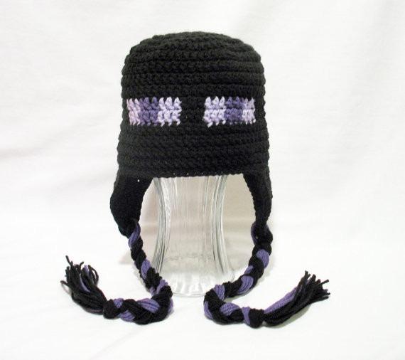 Touca Gorro Croche Minecraft Enderman - Art Crochê - R  32 b11f3755488