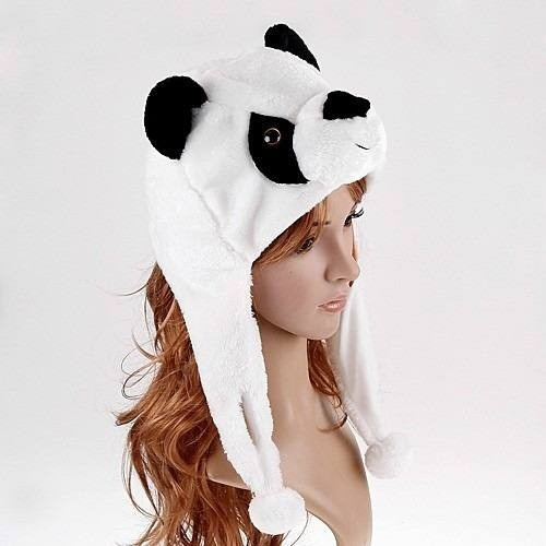 Touca Gorro De Bichinhos De Pelúcia Panda Animais Exclusivos - R  39 ... e56357734ad