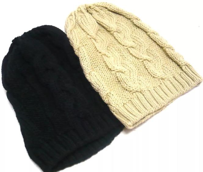 Touca Gorro De Lã Tricô Feminina Trança Inverno Várias Cores - R  34 ... ba886d1bb35