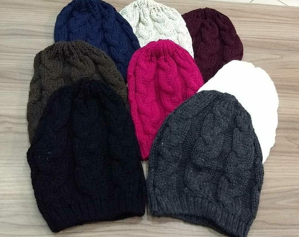 fff3dcc9752a9 touca gorro de lã tricô feminina trança inverno várias cores. Carregando  zoom.
