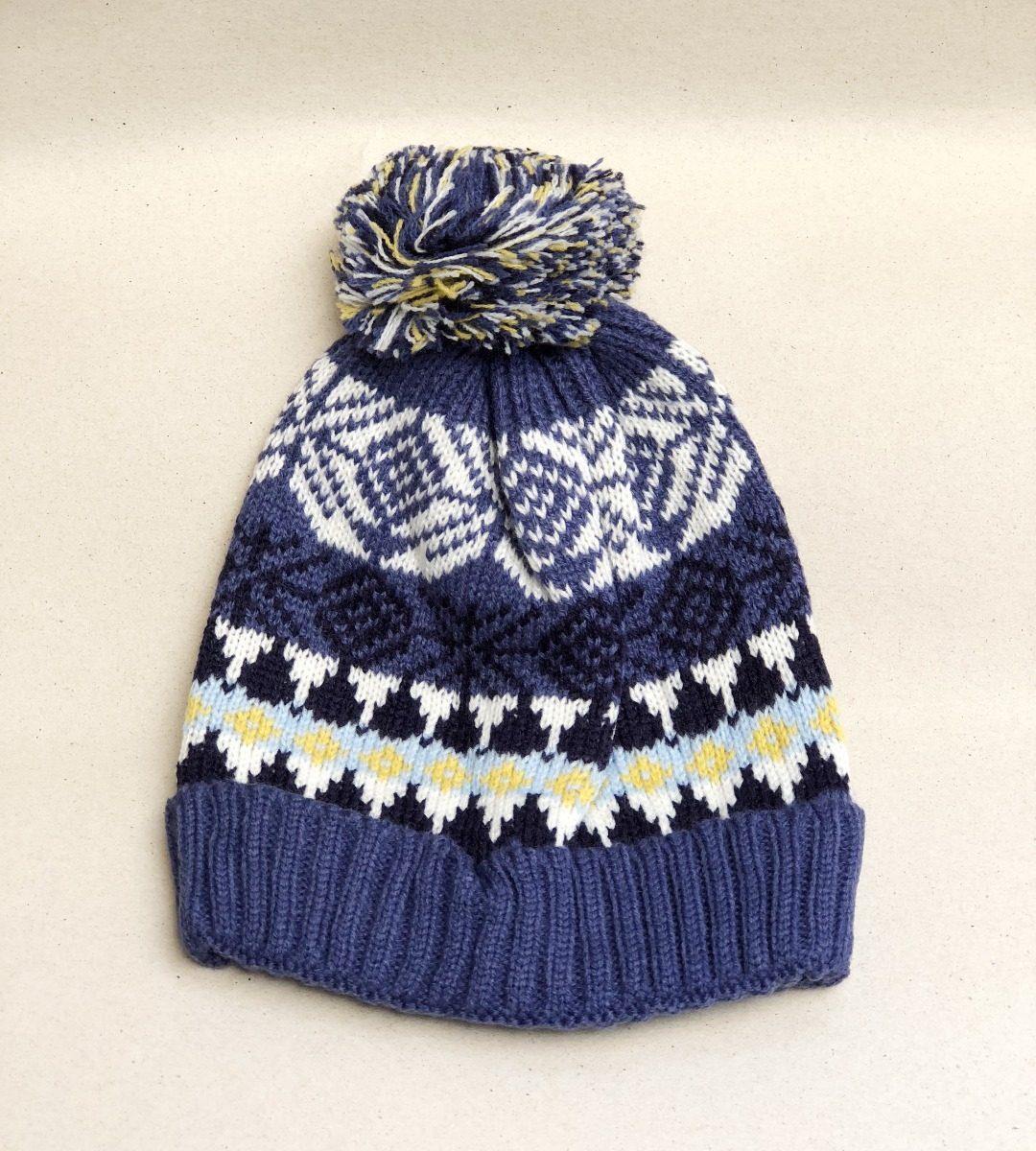 touca gorro de trico infantil menino azul pompom inverno. Carregando zoom. 342815f11f3