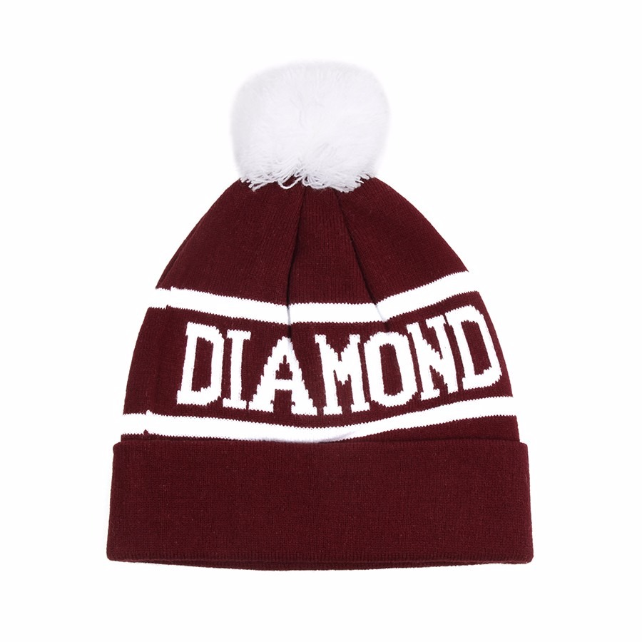 Touca  Gorro Diamond No Brasil Bordo E Branca - R  19 ac44faa2567