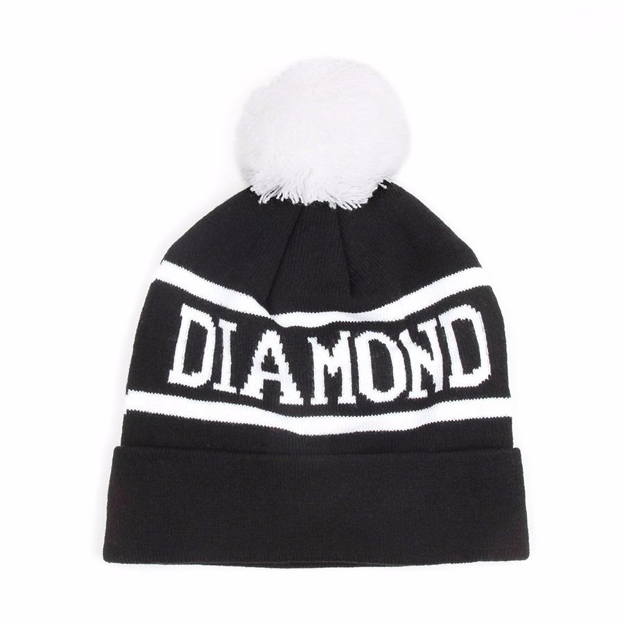 Touca  Gorro Diamond No Brasil Preta E Branca - R  19 a83e8109102