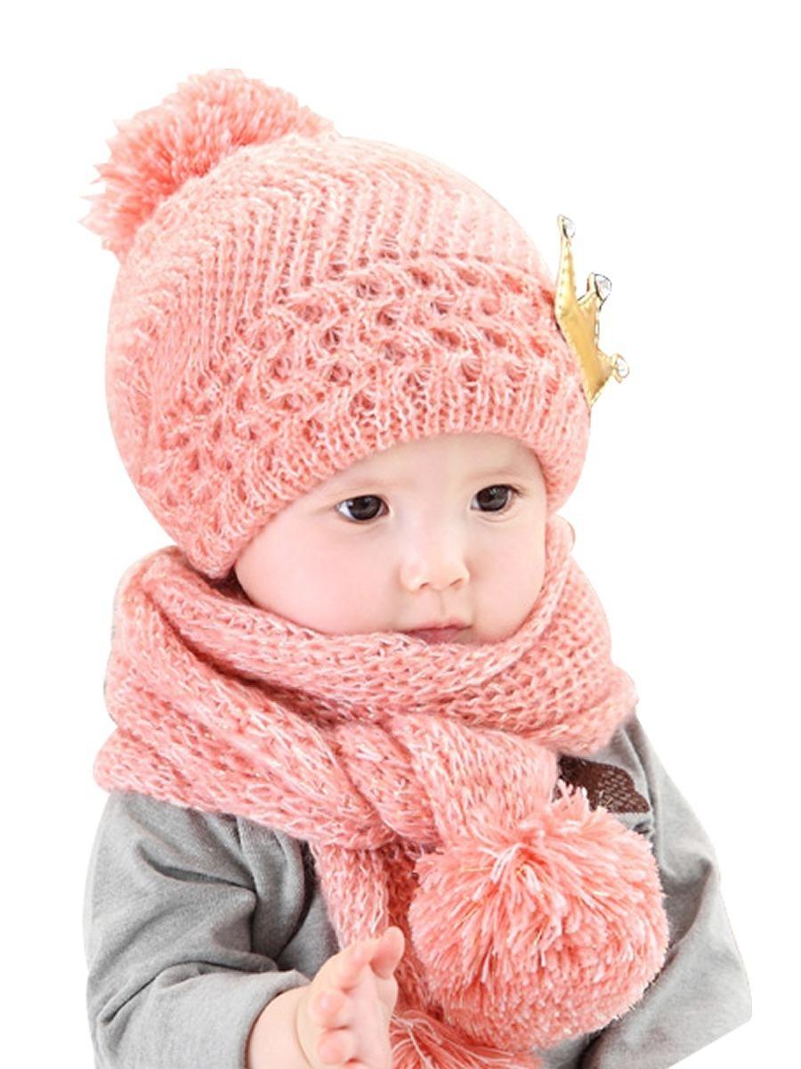 touca gorro e cachecol conjunto infantil bebe criança lã. Carregando zoom. 36acf87008f